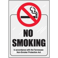 Tennessee No Smoking Window Decal