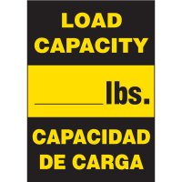 Bilingual Load Capacity Labels