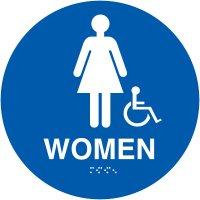 California Women's Handicap Restroom Signs