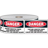 Danger Contains Asbestos Label