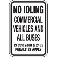California No Idle Signs - No Idling Penalties Apply
