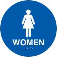 California Women's Restroom Signs