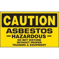 Caution Asbestos Label