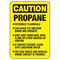 Caution Propane Safety Sign