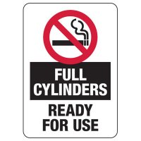 No Smoking Full Cylinders Sign