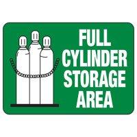 Full Cylinder Storage Area Sign
