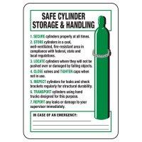 Safe Cylinder Storage & Handling Sign