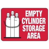 Empty Cylinder Storage Area Sign