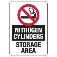 No Smoking Nitrogen Cylinders Sign
