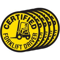 Safety Training Labels - Certified Forklift Driver
