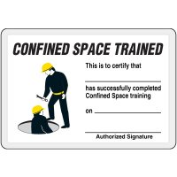 Confined Space Trained Card