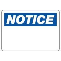 Write-On Notice Sign