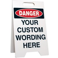 Danger Custom-Worded Floor Stand