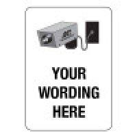 Custom Security Camera Signs