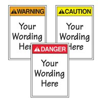 Custom ANSI Warning Labels