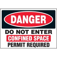 Do Not Enter Confined Space Labels