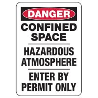 Danger Hazardous Confined Space Signs