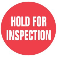 Cold Adhesion Roll Form Labels - HOLD FOR INSPECTION