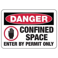 Danger Confined Space Permit Signs