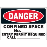 Danger Confined Space Labels
