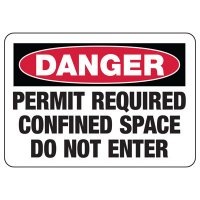 Danger Permit Required Confined Space Signs