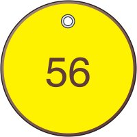 """Consecutively Numbered Valve Tags - 2"""" dia."""