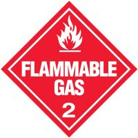 Flammable Gas 2 D.O.T. Placards
