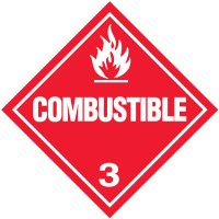 Combustible 3 D.O.T. Placards