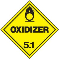 Oxidizer 5.1 D.O.T. Placards