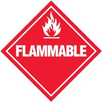 Flammable D.O.T. Placards