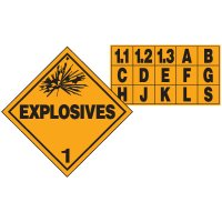 Explosives D.O.T. Placards