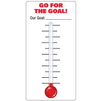 Dry Erase Safety Tracker Signs - Go For The Goal Our Goal __ Thermometer With Blank Gradients