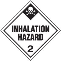 Inhalation Hazard 2 D.O.T. Placards
