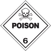 Poison 6 D.O.T. Placards