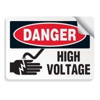 Danger High Voltage - Voltage Warning Labels