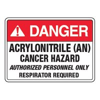 Danger Acrylonitrile (AN) - California Chemical Labels