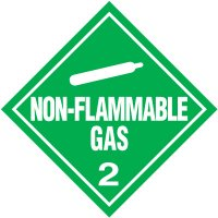 Non-Flammable Gas 2 D.O.T. Placards