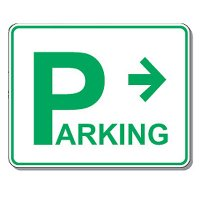 Directional Parking Sign