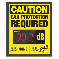 Decibel Meter Sign Kit - Ear Protection Required (Earplugs)
