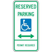 Reserved Parking (double arrow) Parking Sign
