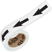 White Directional Pipe Markers