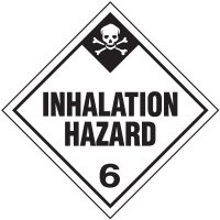 Inhalation Hazard 6 D.O.T. Placards