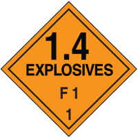 F1 DOT Explosive Placards