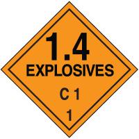 C1 DOT Explosive Placards