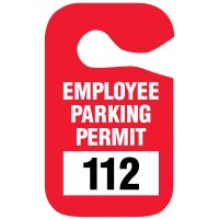 Double Sided Hanging Plastic Employee Parking Permits