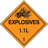1.1L DOT Explosive Placards