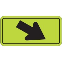 Down Right Arrow Graphic - Fluorescent Pedestrian Signs