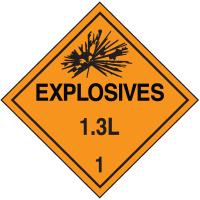 1.3L DOT Explosive Placards