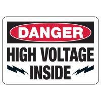 Electrical Safety Signs - Danger High Voltage Inside