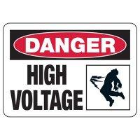 Electrical Safety Signs - Danger High Voltage (Shock)